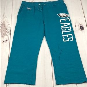 VS PINK NFL Eagles Jogger Pants Raw Hem
